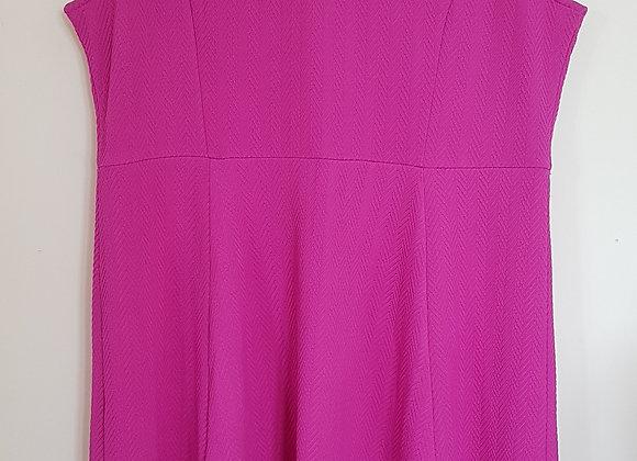 DOROTHY PERKINS. Pink textured dress. Size 18.