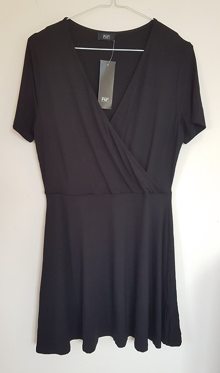 F&F. Black cross front dress. New with tags. Size 10