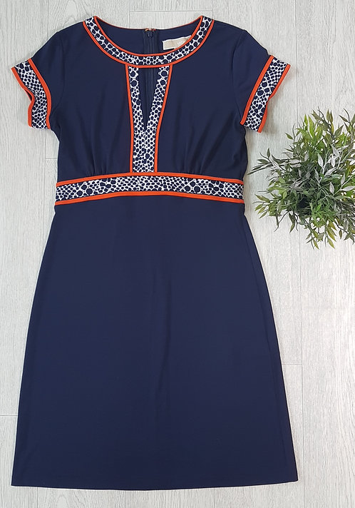🏴MICHAEL KORS. Navy dress with pattern. Size S