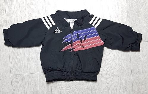🏴ADIDAS. Black zip up Messi jacket. Age 0-3 months