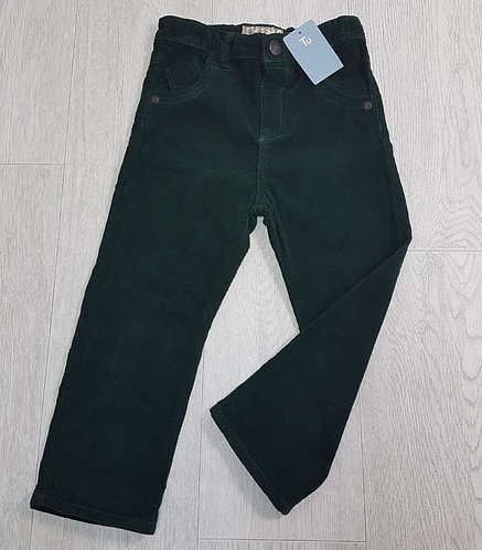 🏴TU. Dark green trousers. Adjustable waist. New with tags. Age 2-3 years