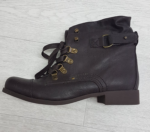 🏳ATMOSPHERE. Brown lace up ankle boots. Size 7/40