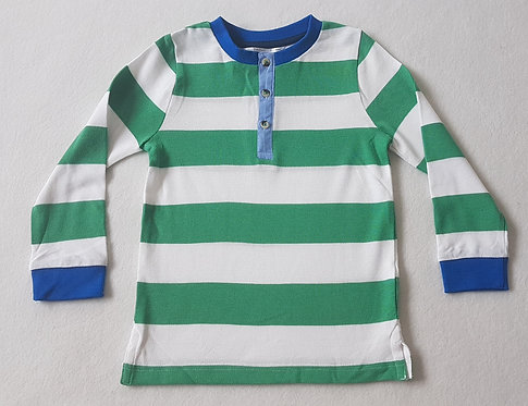 M&Co. Green and white striped long sleeve top. New without tags. Size 2-3 years