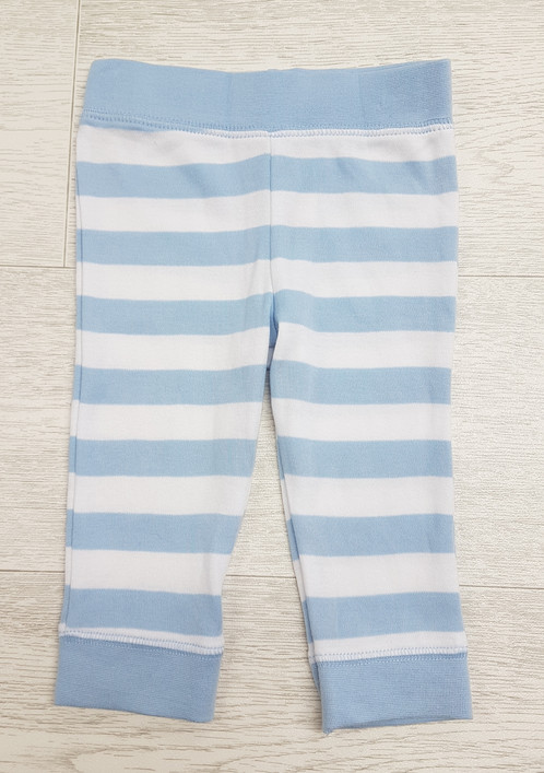 46eaec66e5 F F. Blue and white striped soft trousers. Age 3-6 months