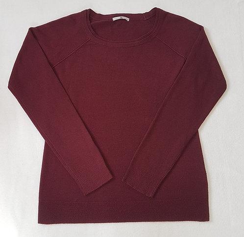 TU. Burgundy woolen jumper. Size 8.