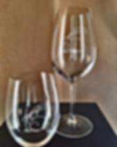Rabbit Ridge Logo Crystal Glasses