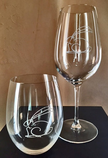 "Reidal Crystal Logo ""O"" Glass"