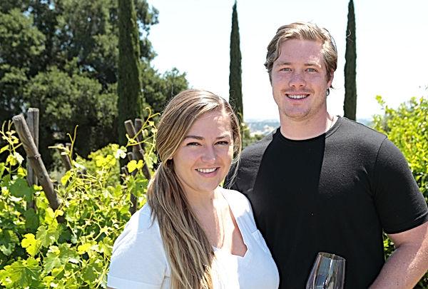 Sarah and Brice Garrett of Serrano Wine