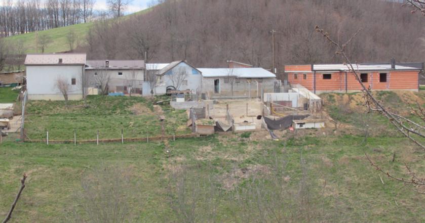 Die Auffangstation von der anderen Bergseite gesehen