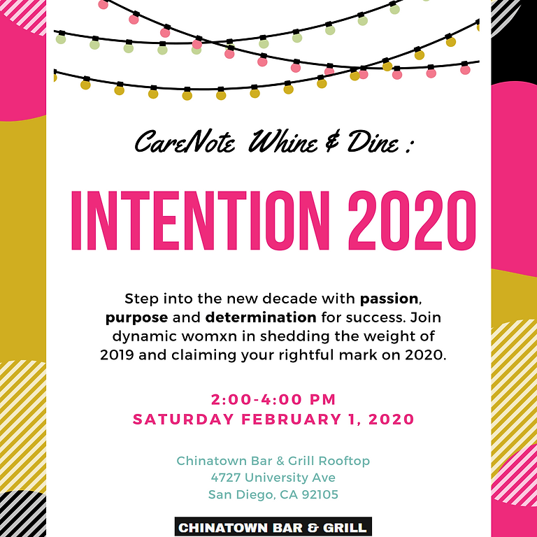 Whine & Dine: Intention 2020