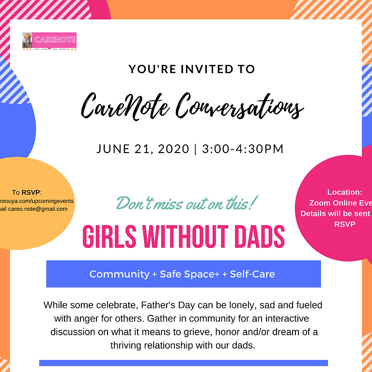 Carenote Conversations: Girls Without Dads