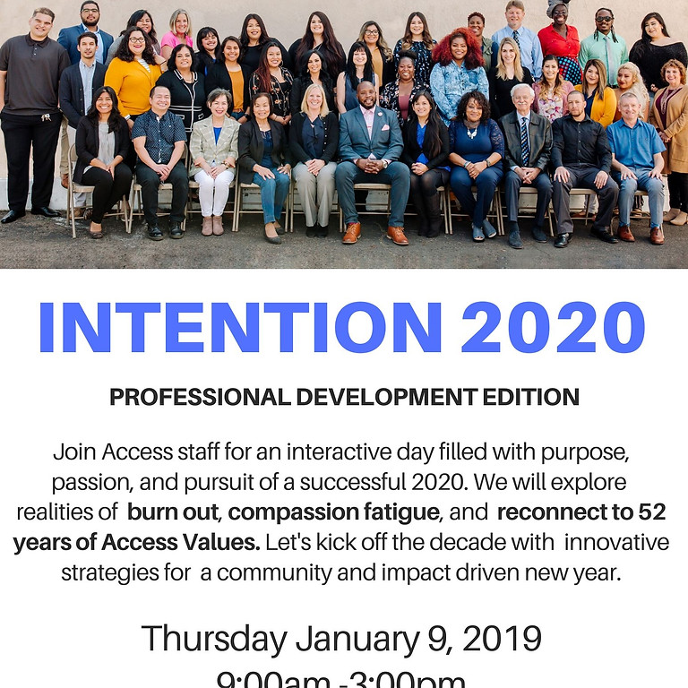 Intention 2020: Professional Development Edition
