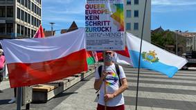Pride-Installation QUEER EUROPE - KEIN SCHRITT ZURÜCK!