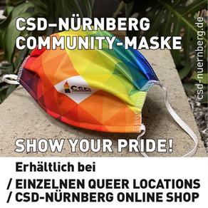 DIE CSD NÜRNBERG COMMUNITY MASKE