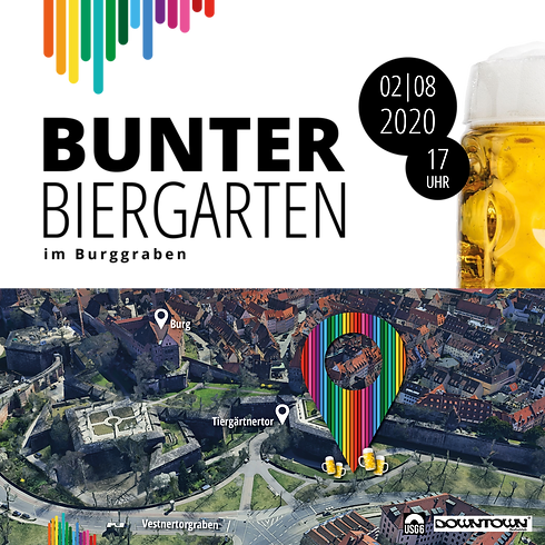 Bunter Biergarten - Freunde des Regenbogens kommt zusammen!