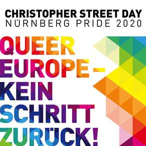 """UNSER MOTTO 2020: """"QUEER EUROPE – KEIN SCHRITT ZURÜCK!"""""""