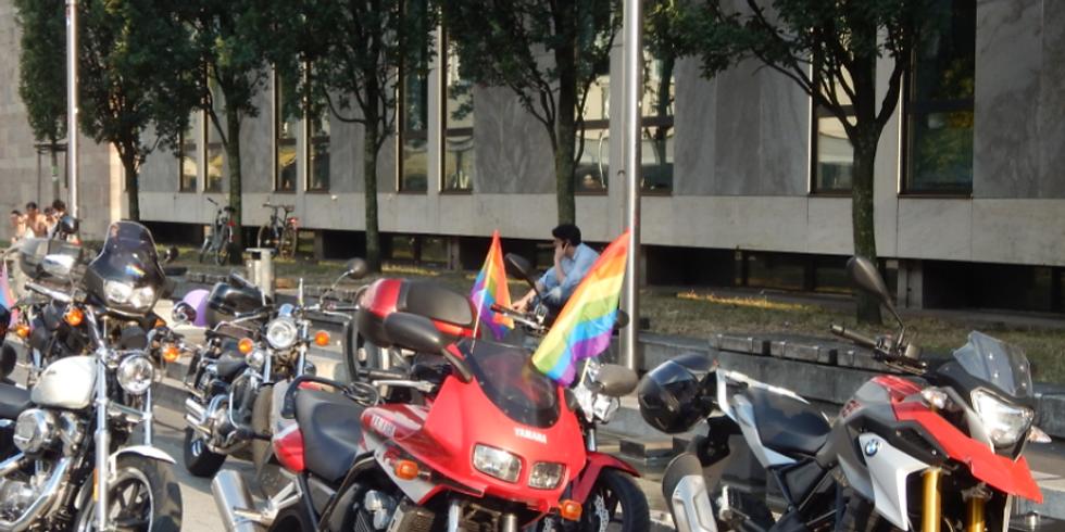 dykes* on bikes – Rainbow Ride – Motorradausfahrt