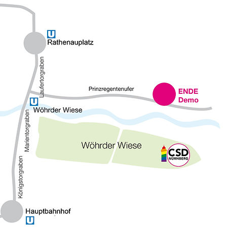 Location Ort CSD Nürnberg PRIDE - CSD FINALE 2021