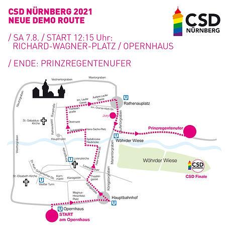 CSD Nürnberg Pride Demo Route 2021