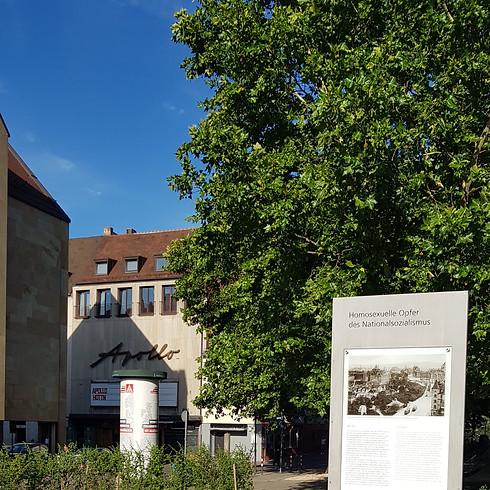 Kranzniederlegung Gedenkstätte für homosexuelle Opfer des Nationalsozialismus