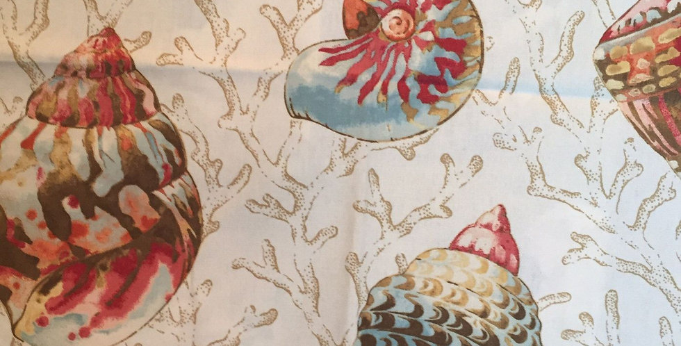 Coral and Shells Fabric