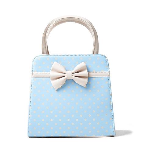 Banned Retro Carla Blue Polka Dot Handbag