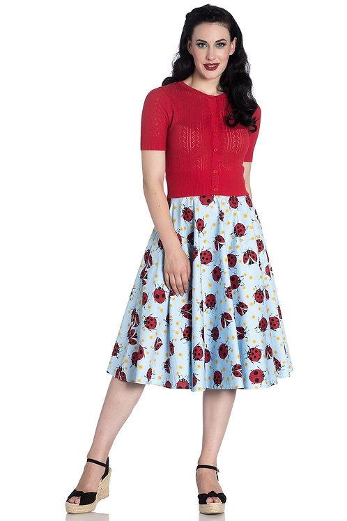 Hell Bunny Lila Ladybug Skirt