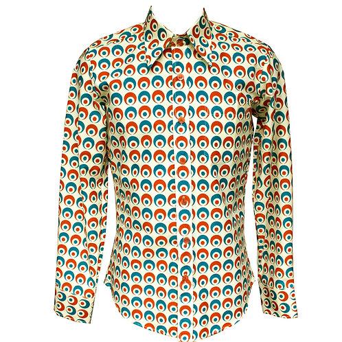 Chenaski Orange & Teal Eyeball Shirt