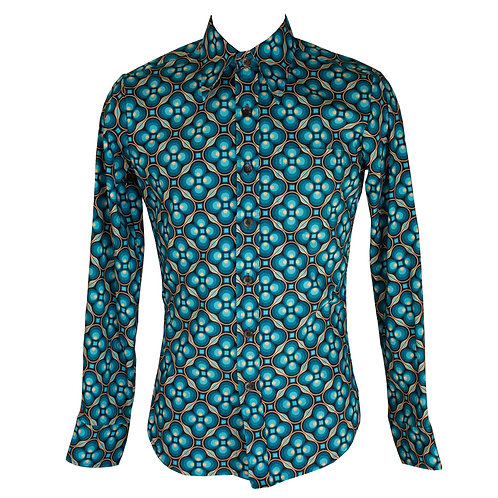 Chenaski Dots & Grids Shirt Blue