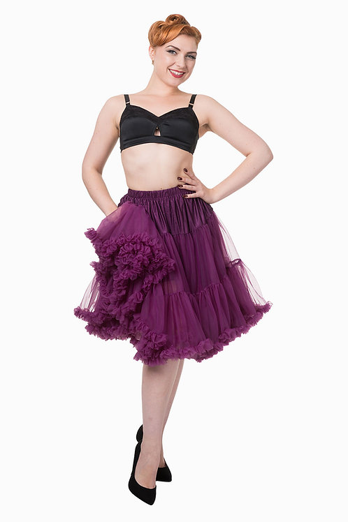 Banned Retro Aubergine Petticoat