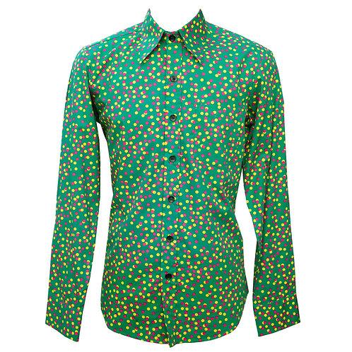 Chenaski 70s Psychedelic Dots Shirt