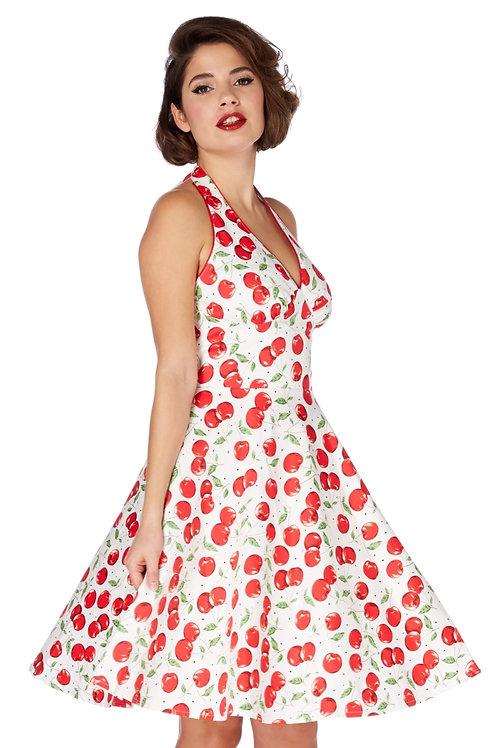 Voodoo Vixen Sybll Cherry Print Halterneck Dress