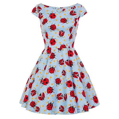Lila Ladybird Dress by Hell Bunny