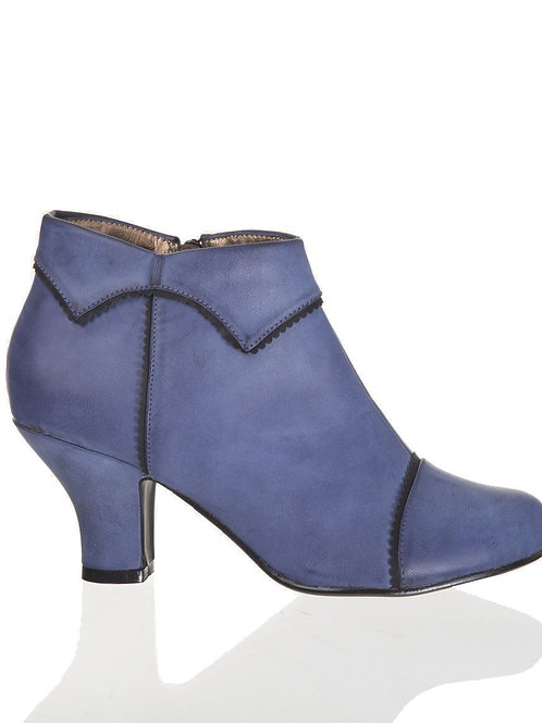 Banned Retro Ruth Blue Ankle Boots
