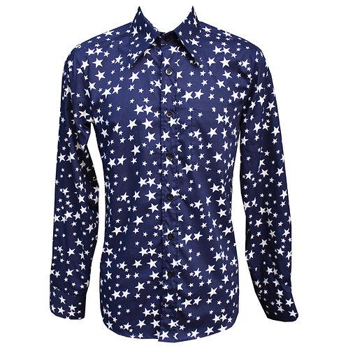 Navy Blue Stars Chenaski Shirt