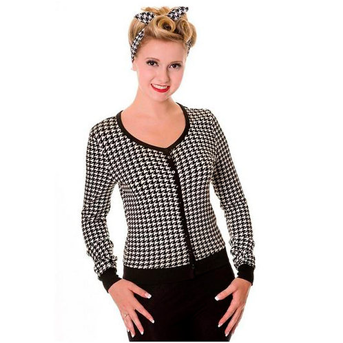 Banned Retro Houndstooth Cardigan