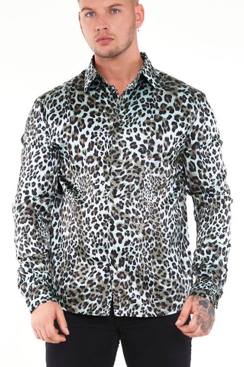 Jawbreaker Green Leopard Long Sleeve Shirt