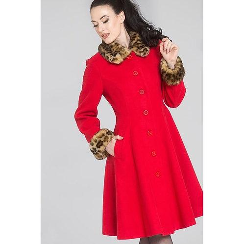 Hell Bunny Red Robinson Coat