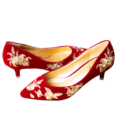 Dancing Days by Banned Magic Dance Red Kitten Heels