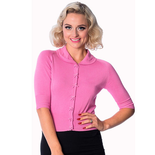 Banned Retro April Bow Pink Cardigan