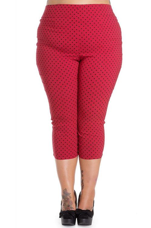 Hell Bunny Red Kay Capri Pants