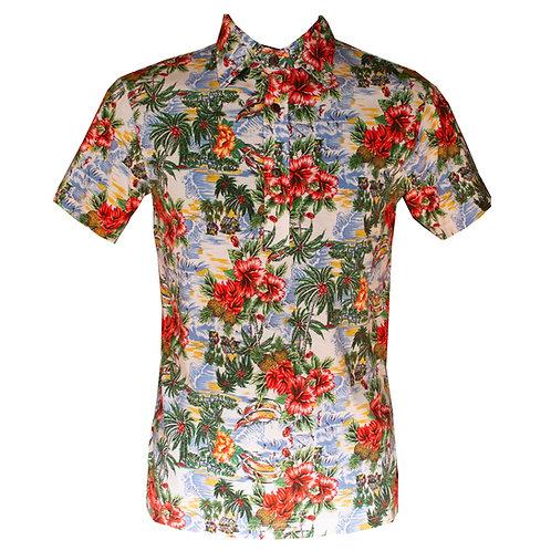Chenaski Tropical Button Up T-shirt