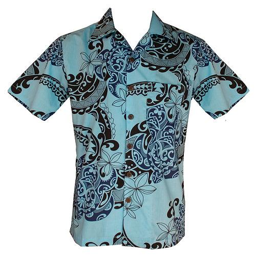 Tribal Poynesian Shirt Short Sleeved