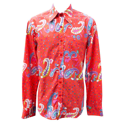 Chenaski 70s Red Paisley Shirt