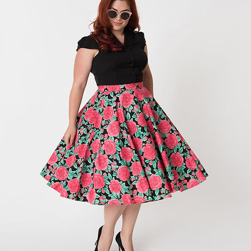 Hell Bunny Darcey Floral Skirt