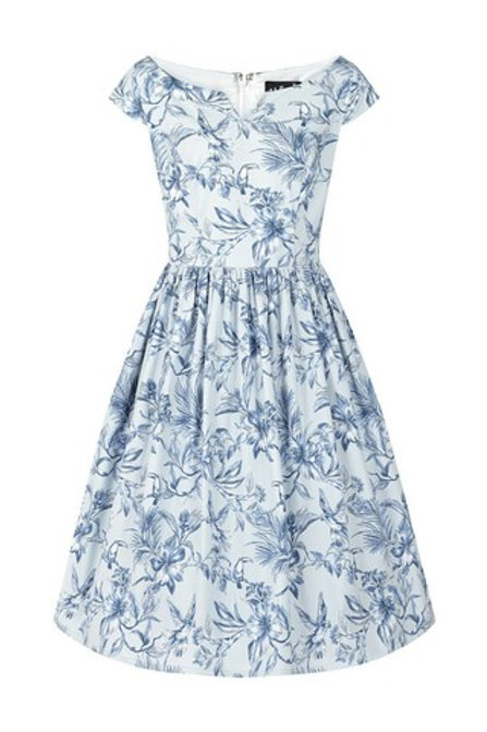 Hell Bunny Blue Brasilia Dress