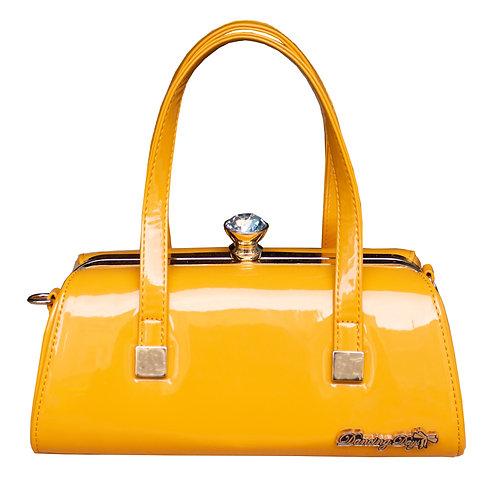 Mustard Vinyl Handbag by Dancing Days