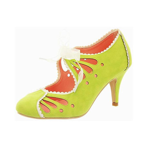 Banned Retro Acid Green Heels