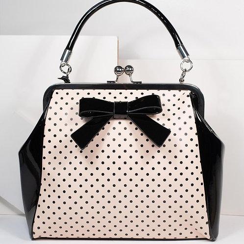 Banned Retro Black/Nude Polka Handbag