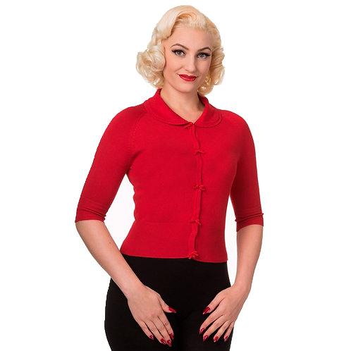 Banned Retro April Bow Red Cardigan